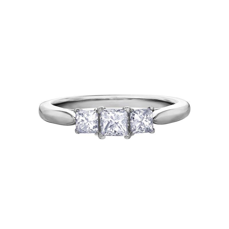 Corona Diamond Ladies Three Stone Ring