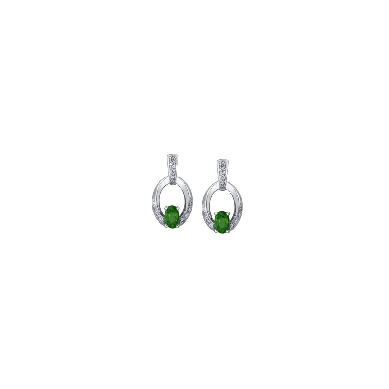 Corona Emerald Earrings