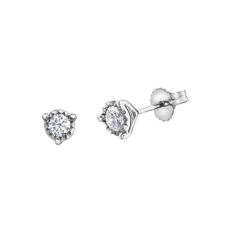 Corona Diamond Stud Earrings