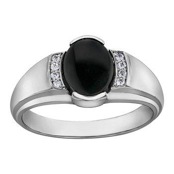 Black Onyx Gents Ring