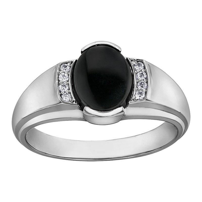 Corona Black Onyx Gents Ring