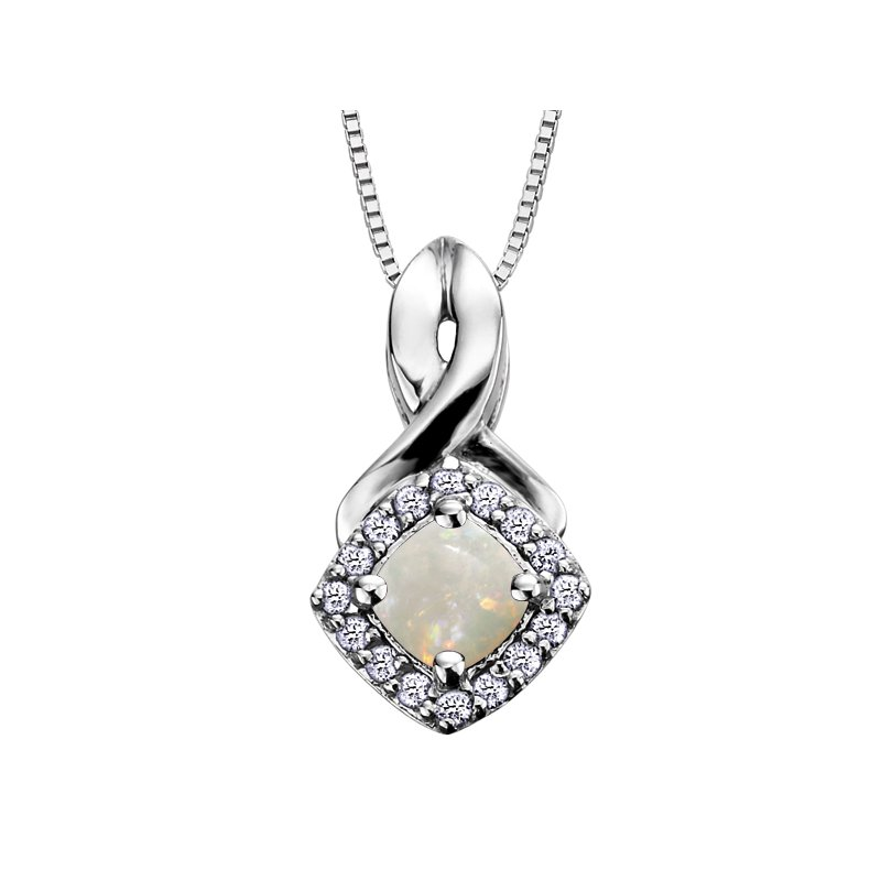 Corona Birthstone & Diamond Pendant