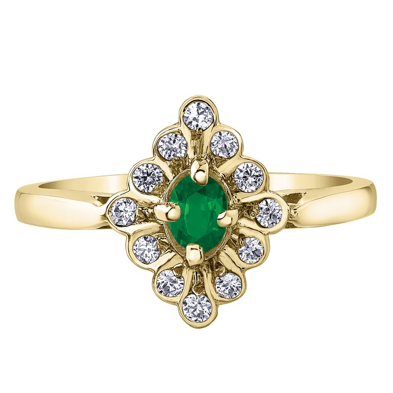 Corona Emerald Ladies Ring