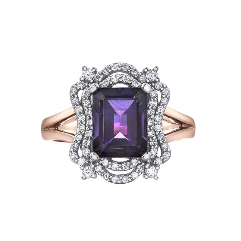 Corona Amethyst Ladies Ring