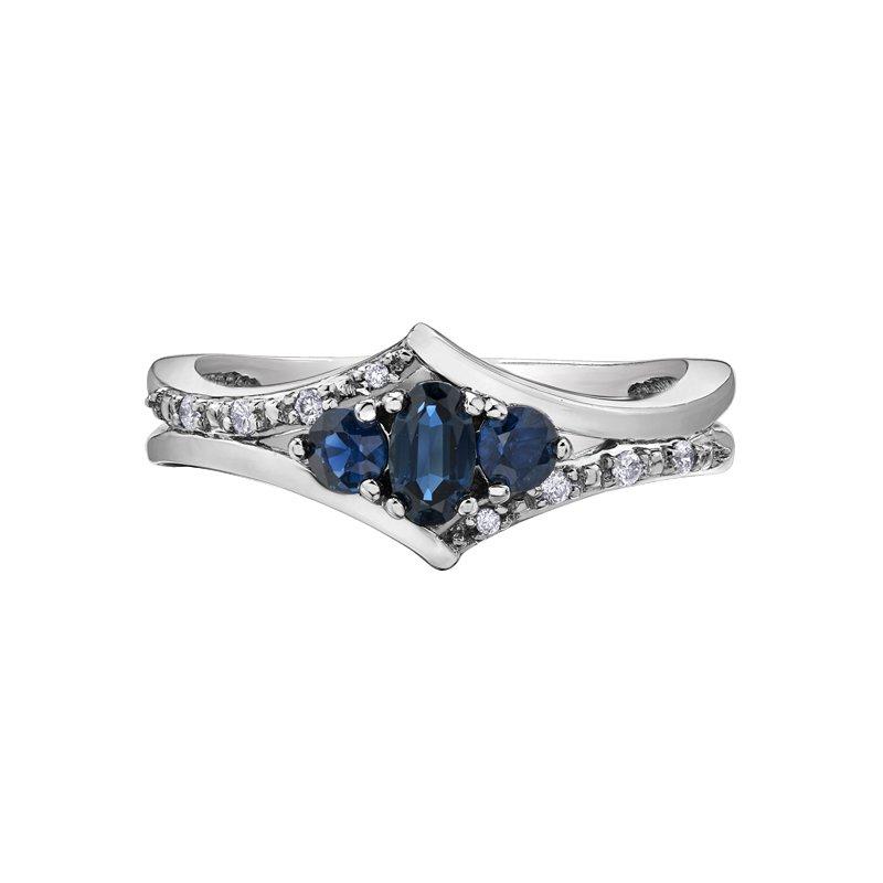 Corona Sapphire Ladies Ring