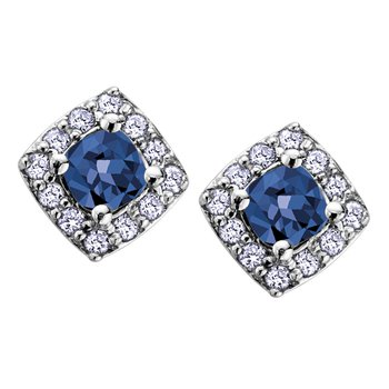 Birthstone & Diamond Earrings