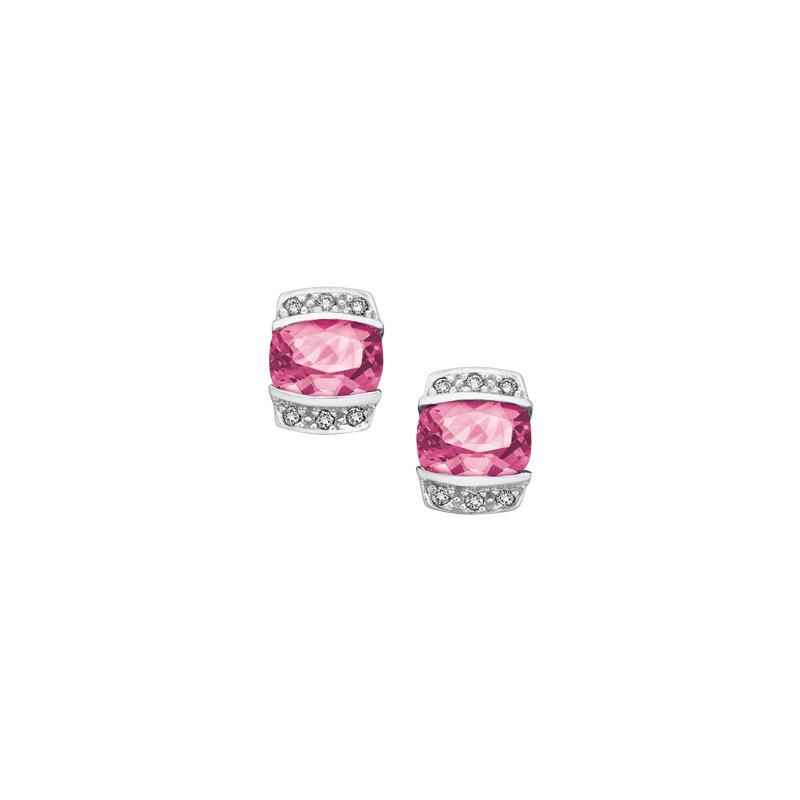 Corona Pink Tourmaline Earrings