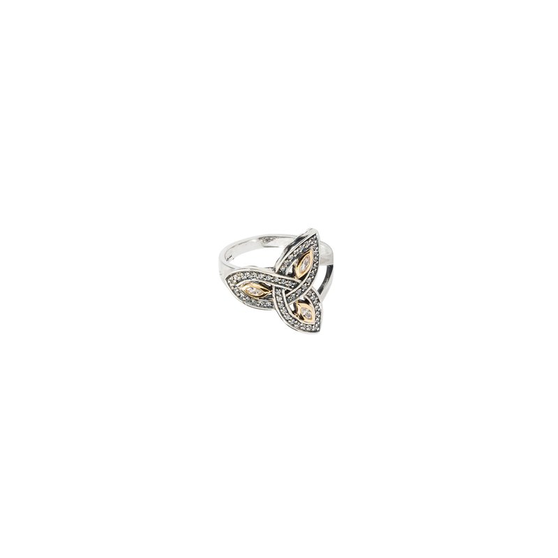 Keith Jack S/sil + 10k Trinity CZ Ring (Tapered)
