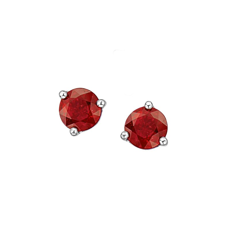 Corona Ruby Earrings