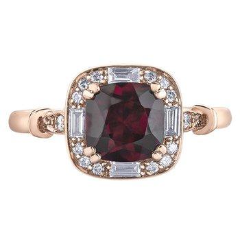 Rhodolite Garnet Ladies Ring