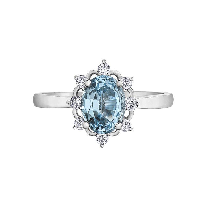 Corona Aquamarine Ring