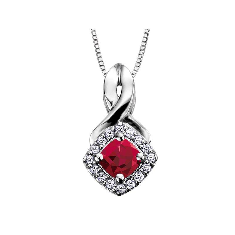 Corona Birthstone & Diamond Pendant