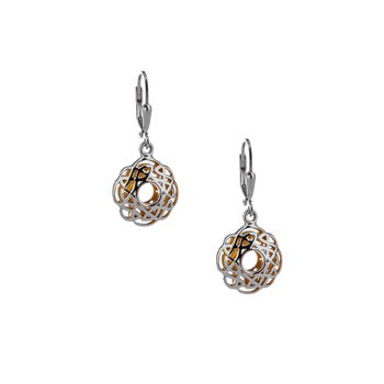 S/sil + 22k Gilded Window to the Soul Scalloped Leverback Earrings