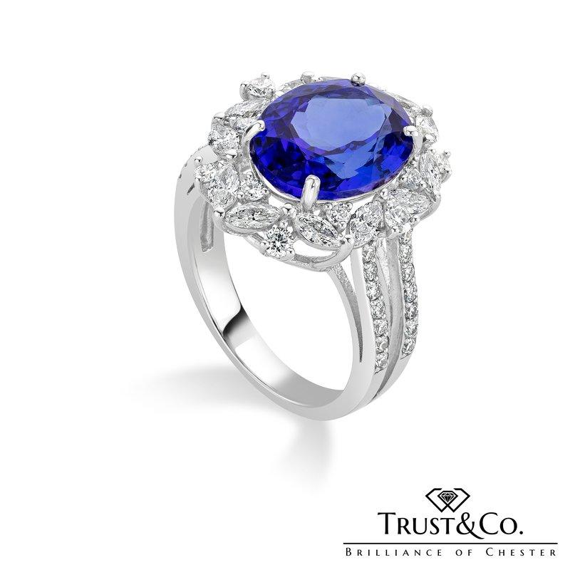 Trust Couture Tanzanite Diamond Ring