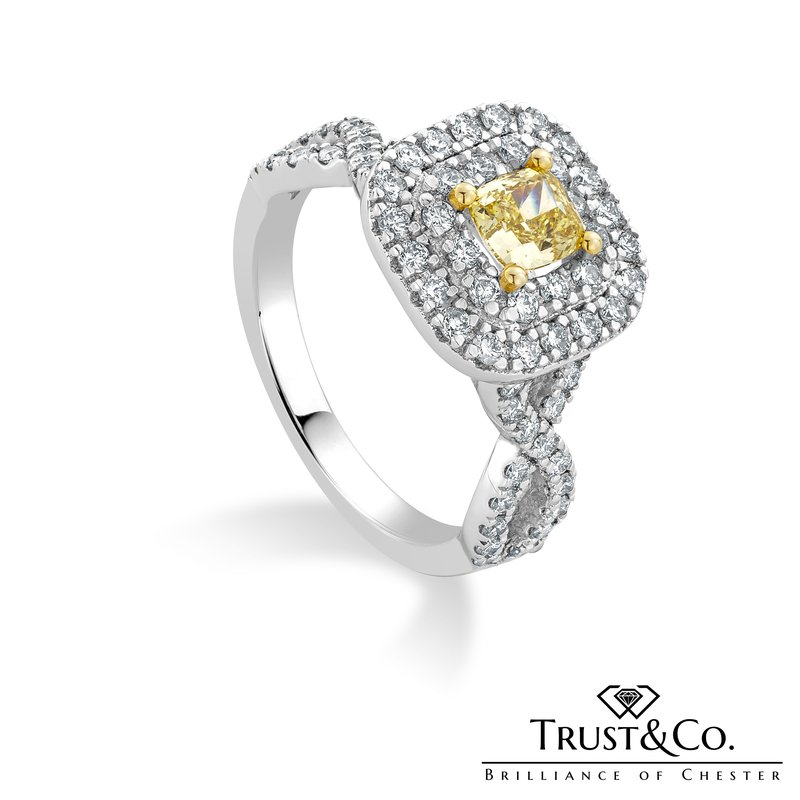 Trust Couture Yellow Diamond Ring