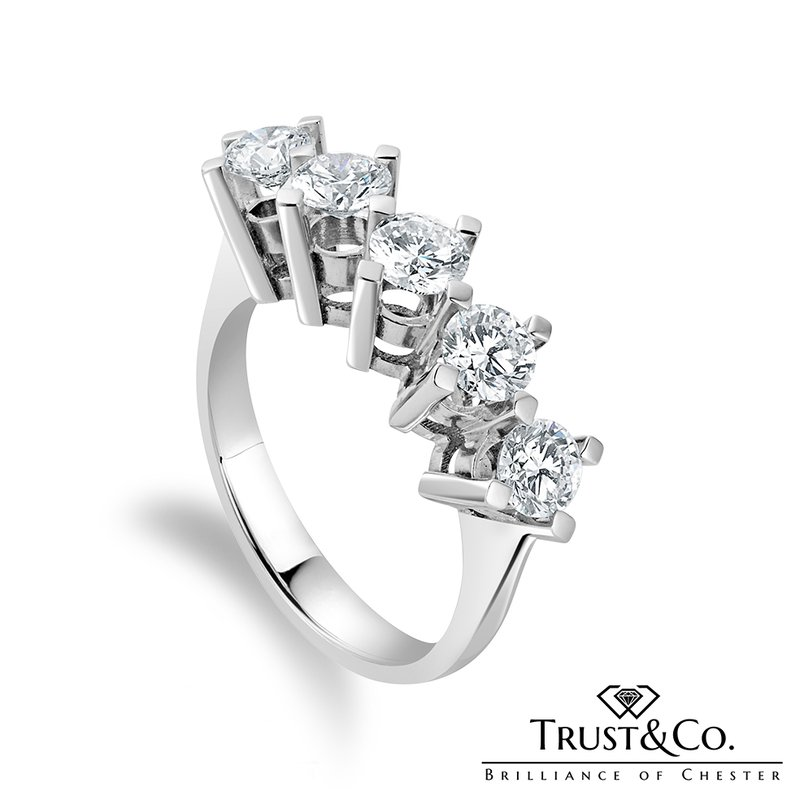 Trust Couture Five-Stone Eternity Ring