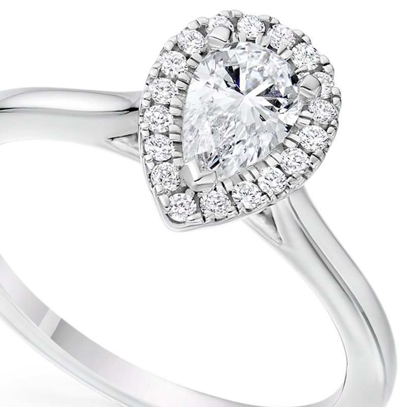 Trust Couture Pear Engagement Ring