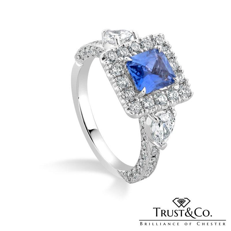 Trust Couture Sapphire Diamond Ring