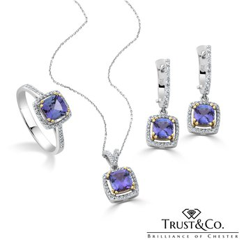 Jewellery Set Tanzanite