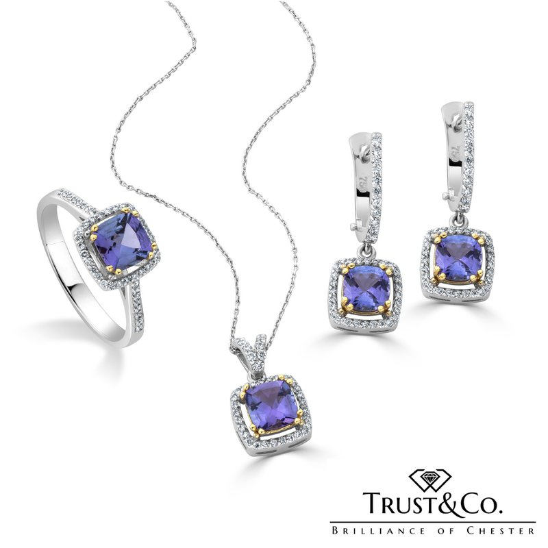 Trust Couture Jewellery Set Tanzanite
