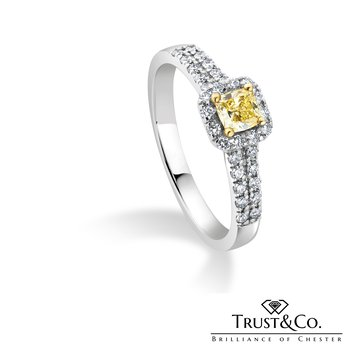 Yellow Diamong Ring