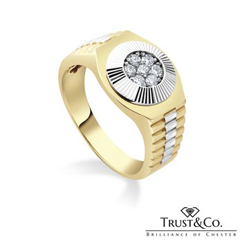 Diamond Gent's Ring