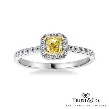 Yellow Diamong Ring