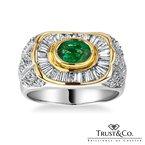 Trust Couture Emerald Diamond Ring