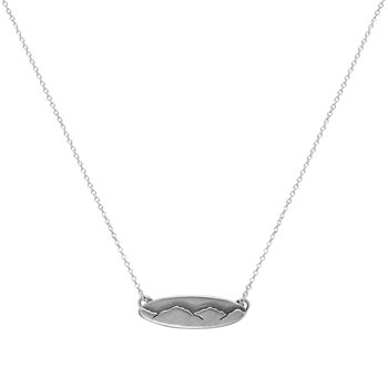 Small Oval Mountain Necklace