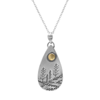 Saratoga Jewels Small Drop Landscape Necklace