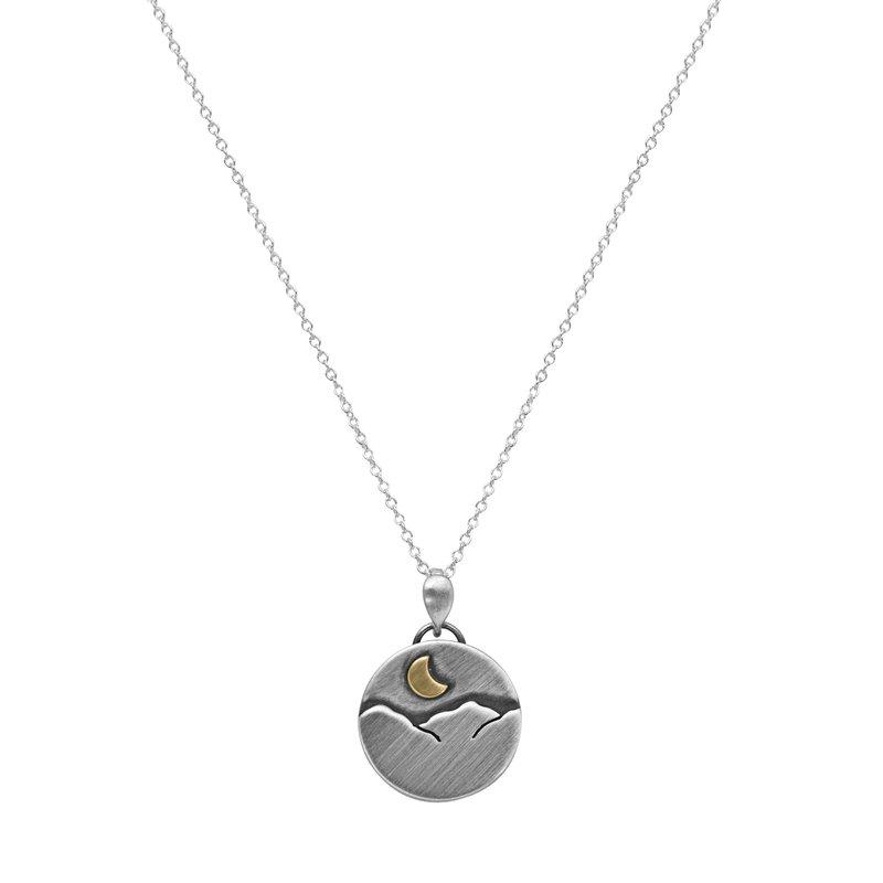 Saratoga Jewels Round Mountain Necklace