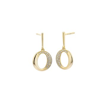 Design Yellow line Earring 0.2 ctw SI diam