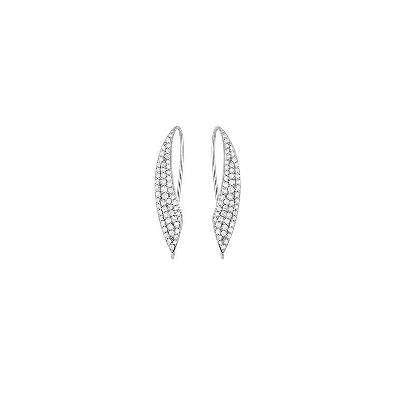 FACET BARCELONA Design White line Earring 0.95 ctw H SI diam