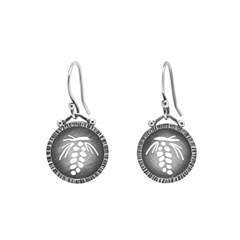 Saratoga Jewels Pine Cone Earrings