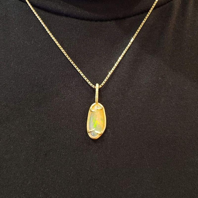 Grant Dorangrichia  Rare Fire Opal pendant Necklace