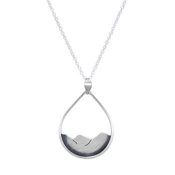 Mountainscape Drop Necklace