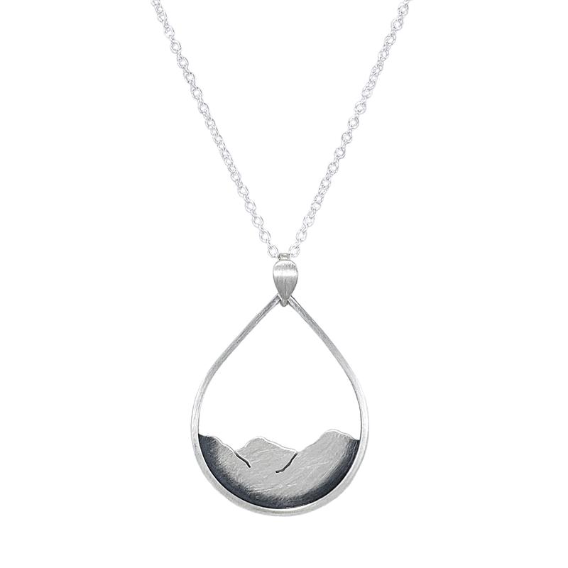 Saratoga Jewels Mountainscape Drop Necklace