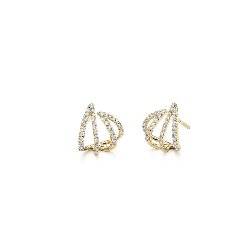 FACET BARCELONA Design Yellow line Earring 0.6 ctw H SI diam