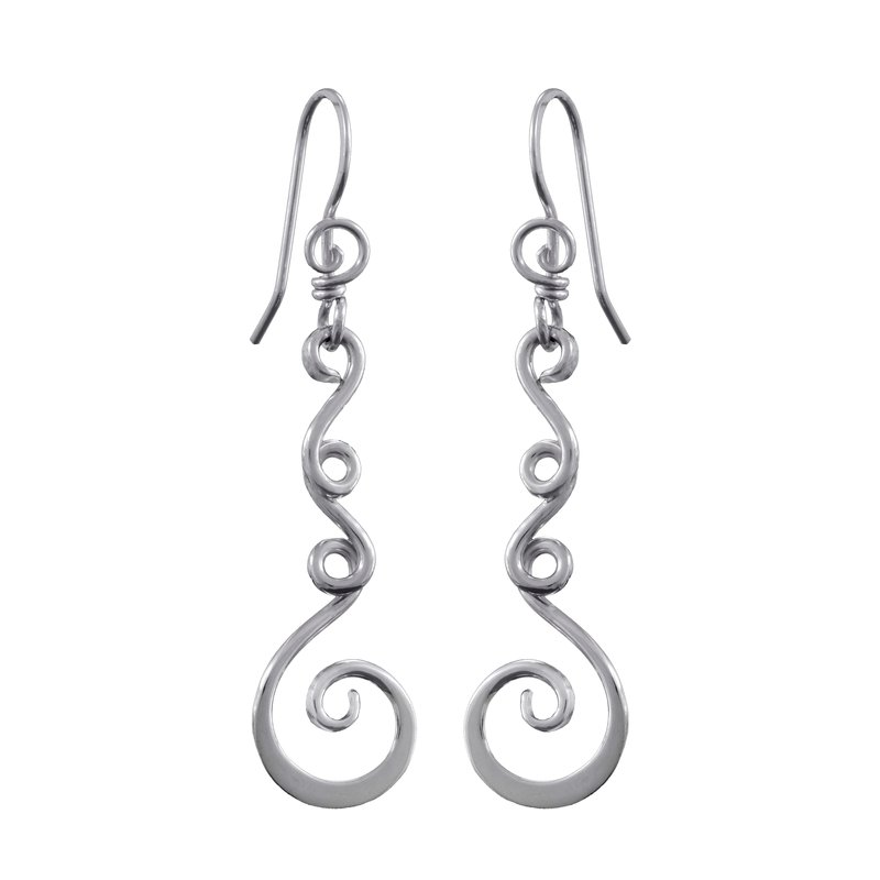 Saratoga Jewels Vine (Strength) Earrings