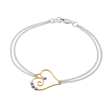 Heart Double Chain Bracelet