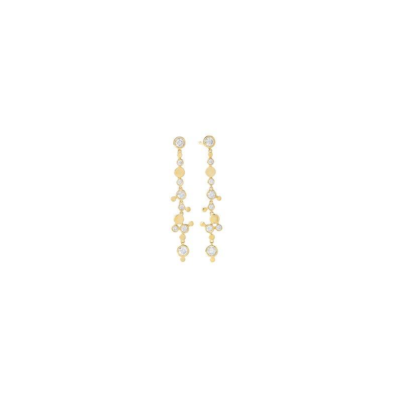 FACET BARCELONA Design Dangling Earring 0.65 ctw H SI diam