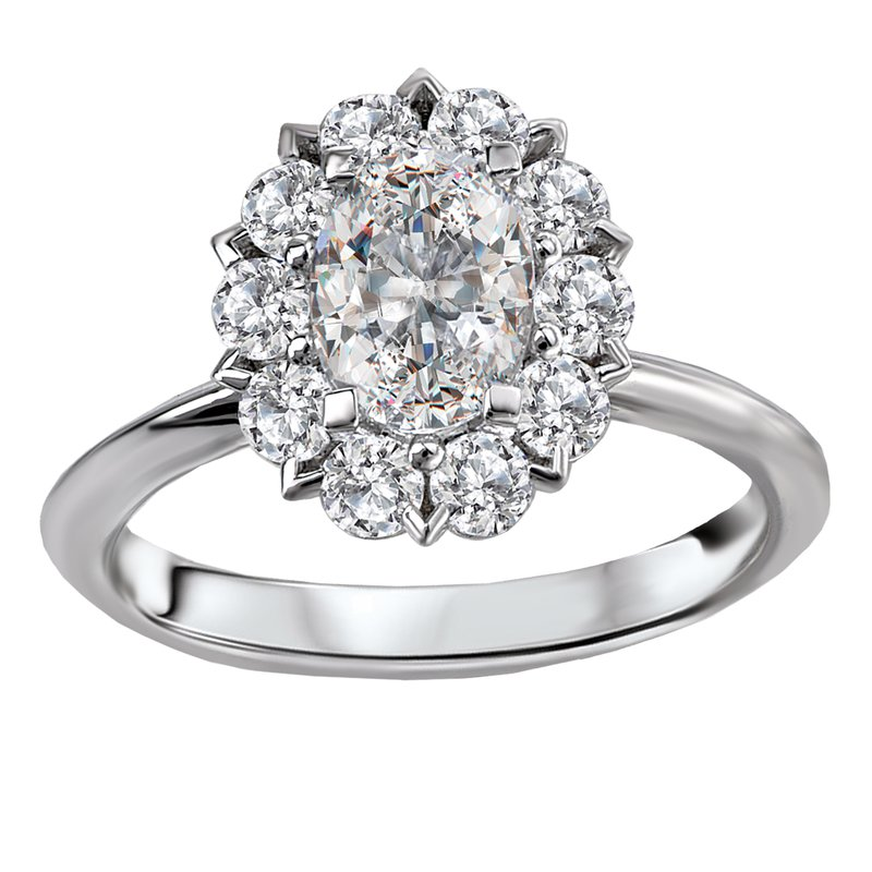 Sam's Signature Collection Halo Semi-Mount Diamond Ring