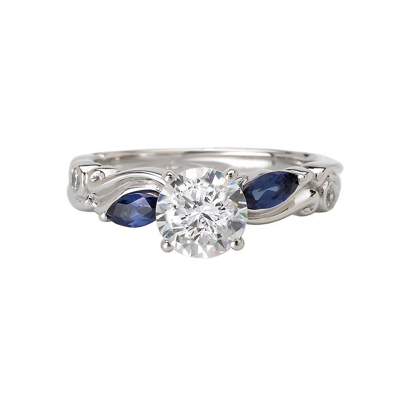 Sam's Signature Collection Sapphire and Diamond Semi-Mount Ring