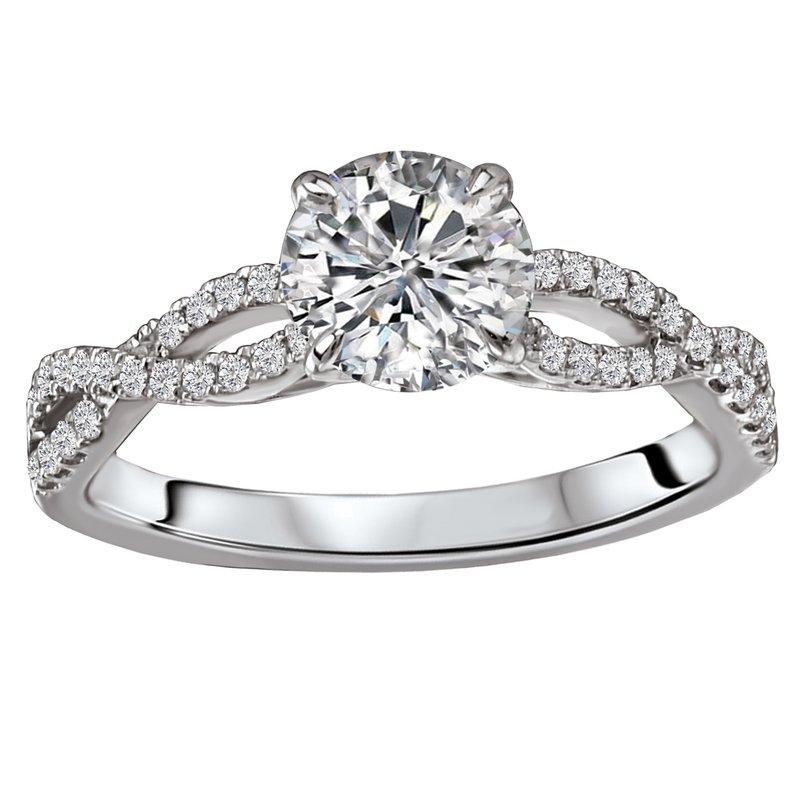 Sam's Signature Collection Braided Shank Semi-Mount Diamond Ring