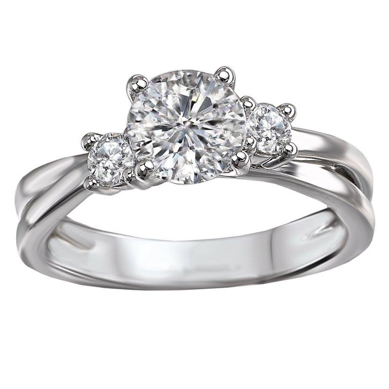 Sam's Signature Collection 3-Stone Semi-Mount Diamond Ring