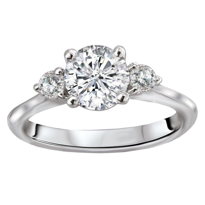 Sam's Signature Collection 3 Stone Semi-Mount Diamond Ring