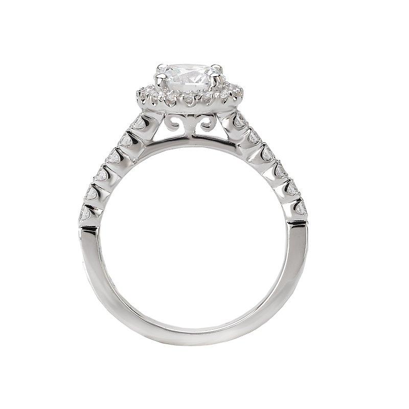 Sam's Signature Collection Halo Semi-Mount Diamond Ring