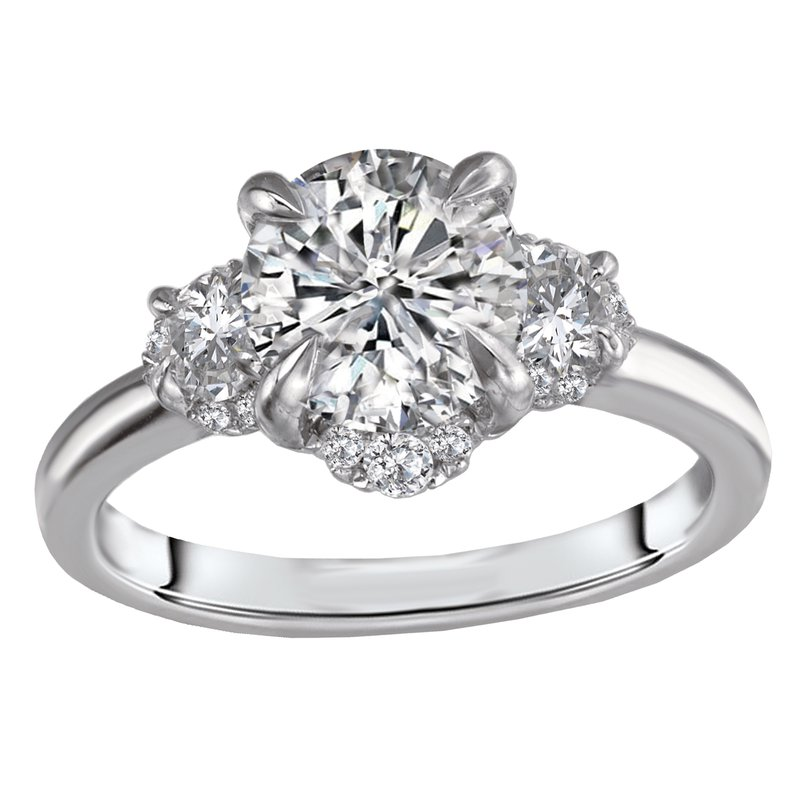Sam's Signature Collection 3 Stone Semi-Mount Diamond Ring