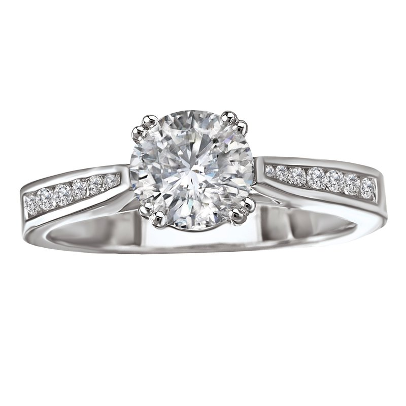 Sam's Signature Collection Peg Head Semi-Mount Diamond Ring