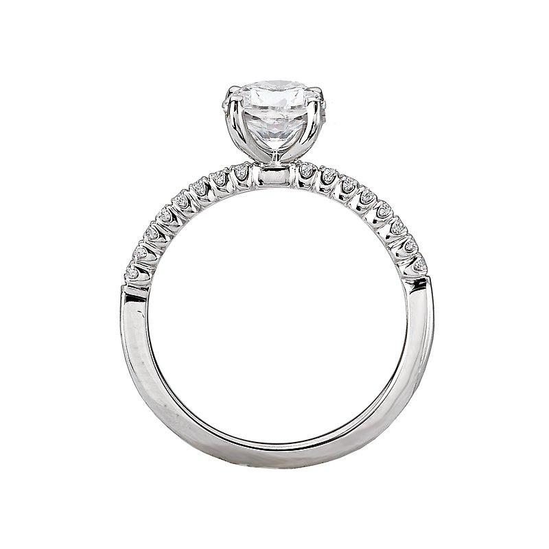 Sam's Signature Collection Peg Head Semi-Mount Diamond Ring